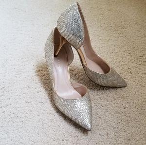 Marc Fisher Metallic dress shoes with heels